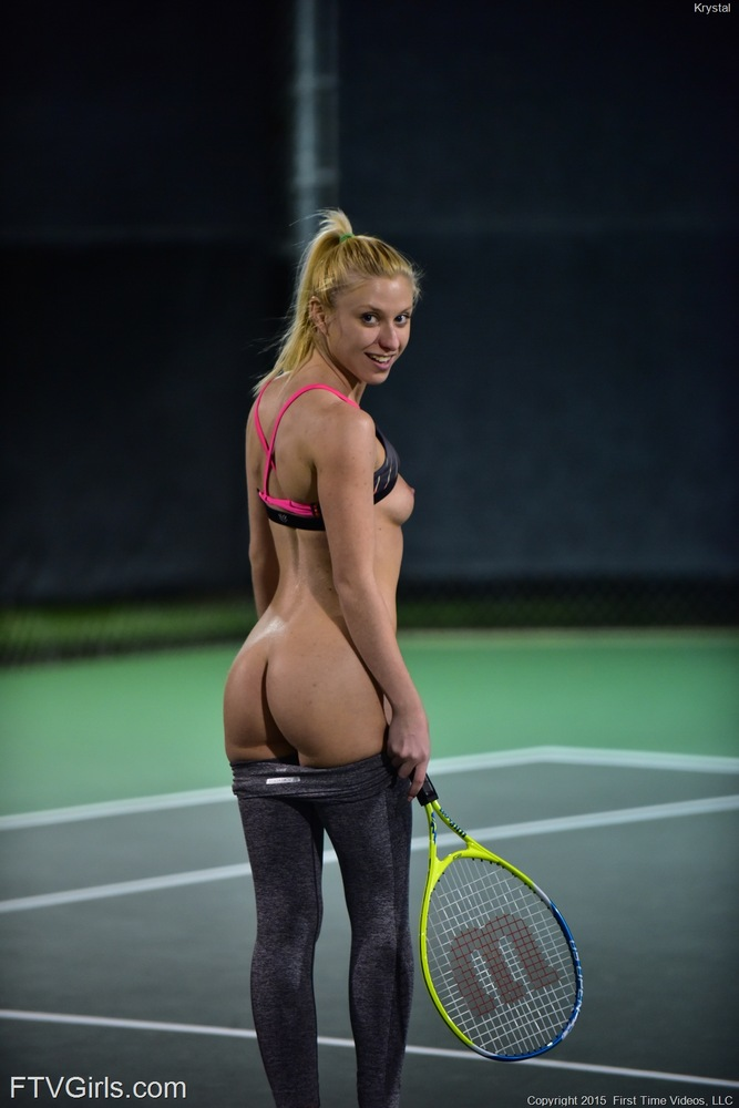 Naughty Blonde Babe Krystal Pink And Sporty