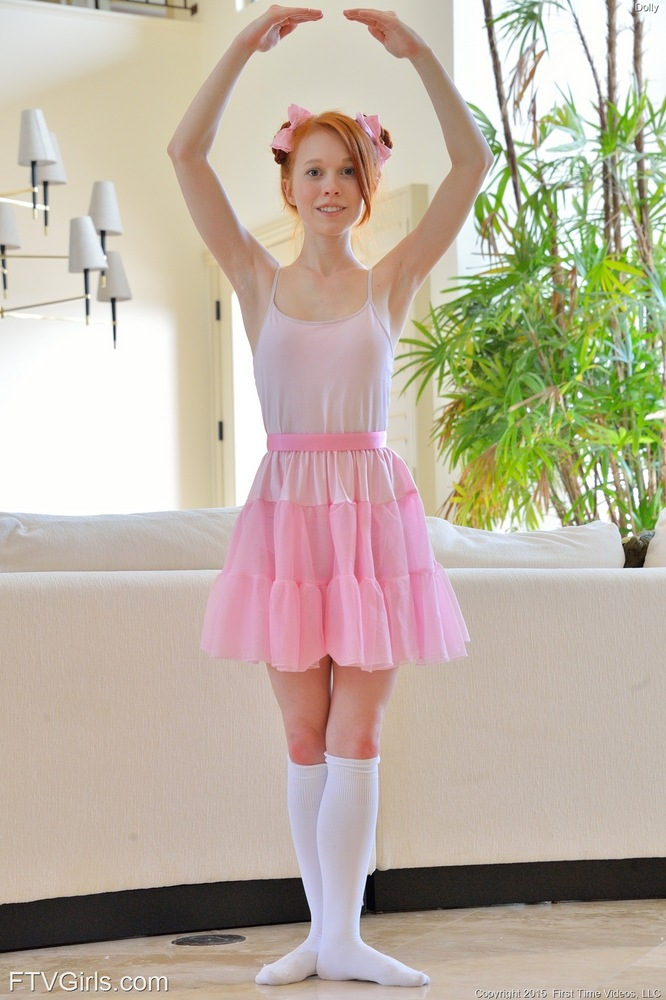Naughty Redhead Babe Dolly The Ballerina